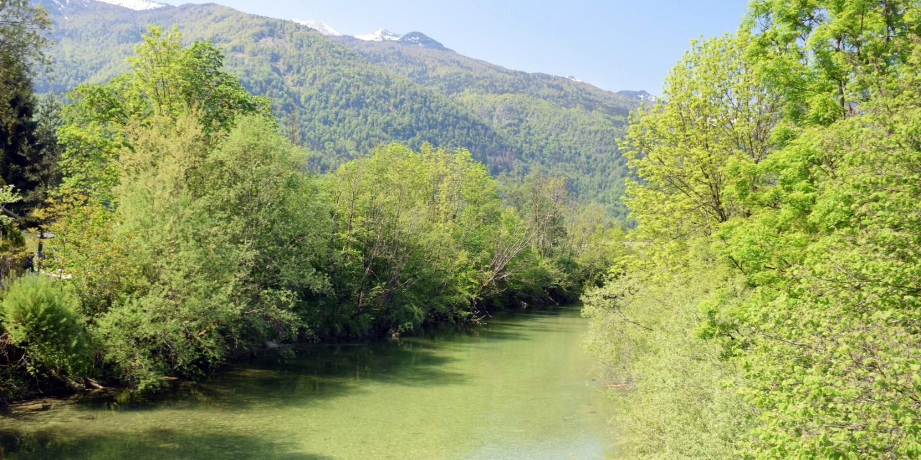 Il fiume Sava Bohinjka